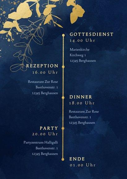 Einladungskarte Hochzeit Eukalyptus Goldlook 2