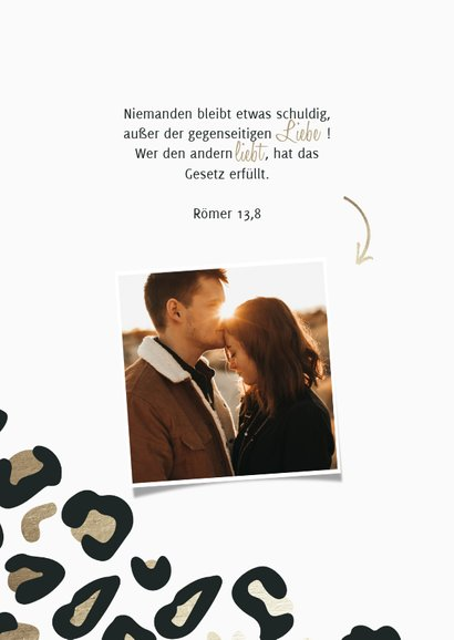 Einladungskarte Hochzeit Leopardenmuster Foto innen 2