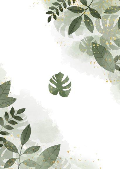 Einladungskarte Hochzeit mit Foto botanisch mit Wasserfarbe Rückseite
