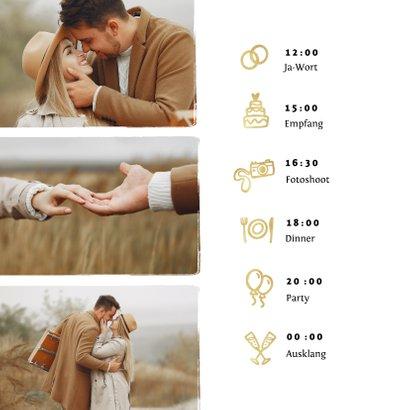 Einladungskarte Hochzeitsfeier Pinselstrich Foto 2