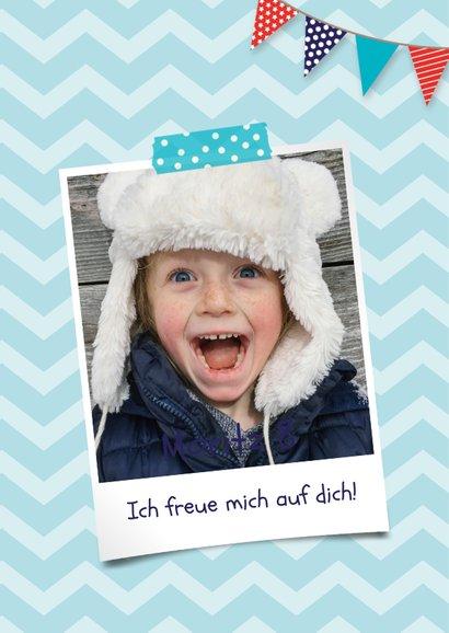 Einladungskarte Kindergeburtstag Hund und Foto 2