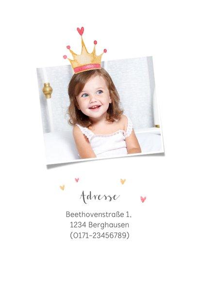 Einladungskarte Kindergeburtstag rosa Kutsche 2