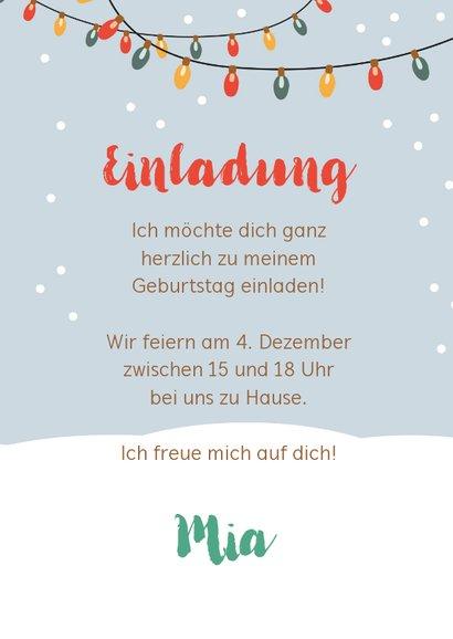 Einladungskarte Kindergeburtstag Wintertiere mit Luftballons 3