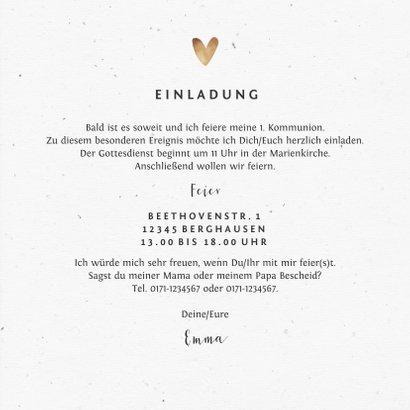 Einladungskarte Kommunion Fotos & Herzchen 3