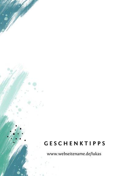 Einladungskarte Konfirmation Foto grüne Farbflecken 2