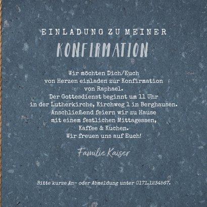 Einladungskarte Konfirmation Foto & Girlande 3