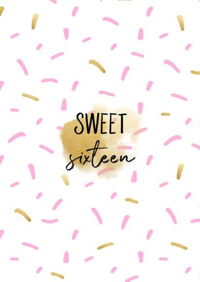 Einladungskarte mit Foto Sweet Sixteen 2