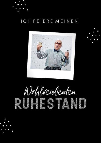 Einladungskarte Renteneintritt 'work hard - play harder' 2