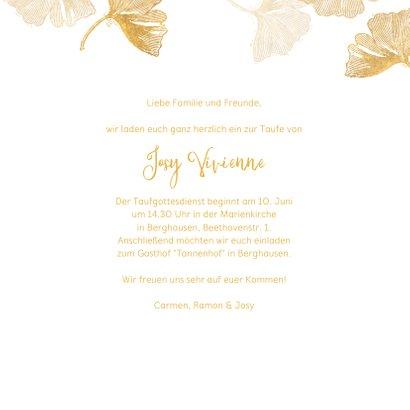 Einladungskarte Taufe Foto & Ginkgo Stempel 3