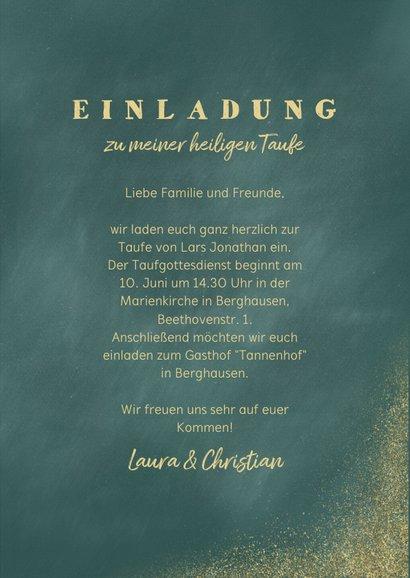 Einladungskarte Taufe Foto & Goldfische 3