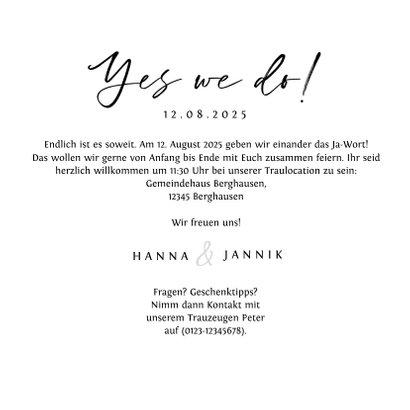 Einladungskarte 'yes we do' Foto und Unterwasserwelt 3