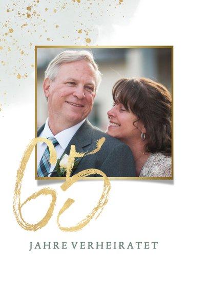 Einladungskarte zum 65. Hochzeitstag mit Foto 2