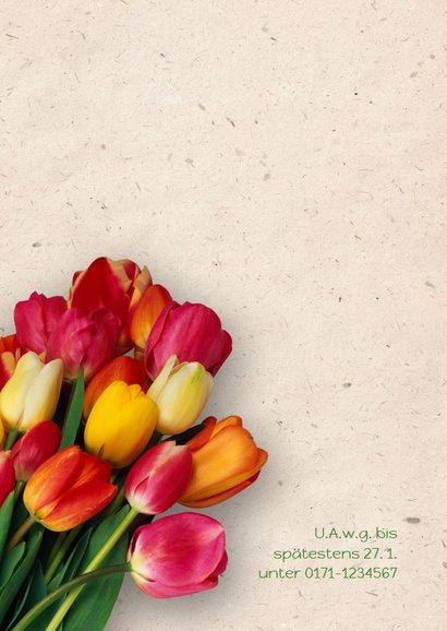 Einladungskarte zum Geburtstag Bunte Tulpen 2