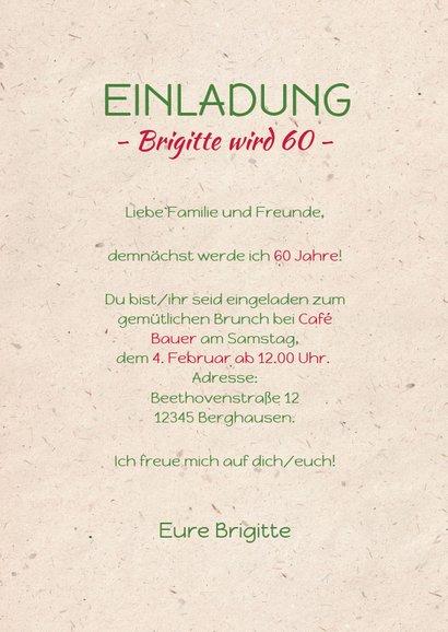 Einladungskarte zum Geburtstag Bunte Tulpen 3