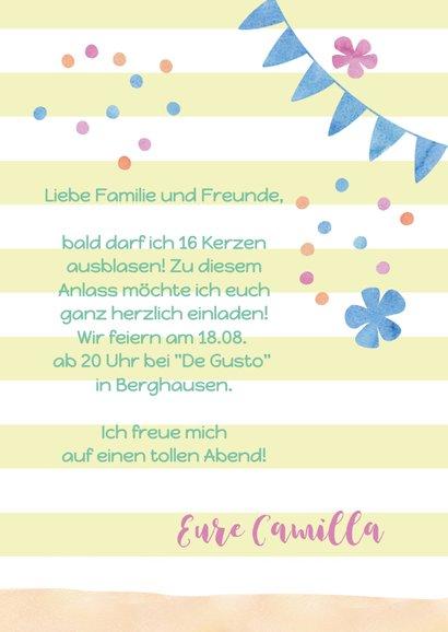 Einladungskarte zum Geburtstag Fiesta mit Kaktus 3