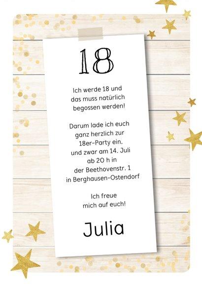 Einladungskarte zum Geburtstag Funparty mit Fotos 3