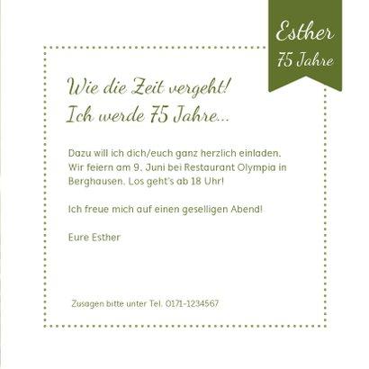 Einladungskarte zum Geburtstag Gänseblümchen 3