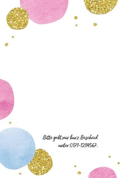 Einladungskarte zum Geburtstag Happy Dots 2