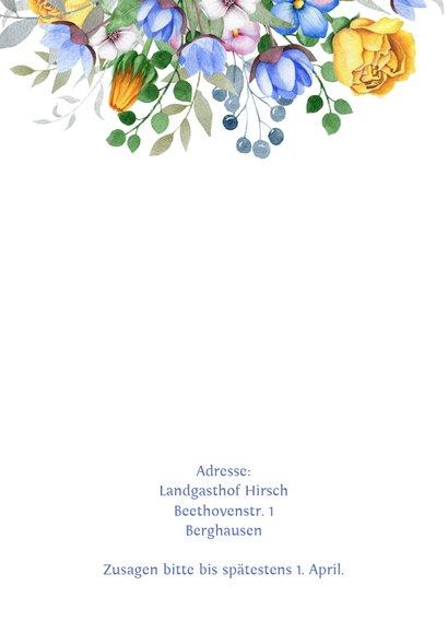Einladungskarte zum Geburtstag mit Blumenbouquet 2