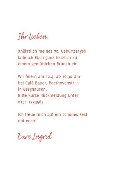 Einladungskarte zum Geburtstag mit rosa Lilie 3