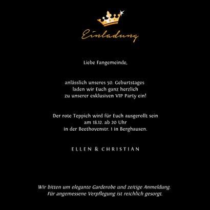 Einladungskarte zum Geburtstag VIP Party 3