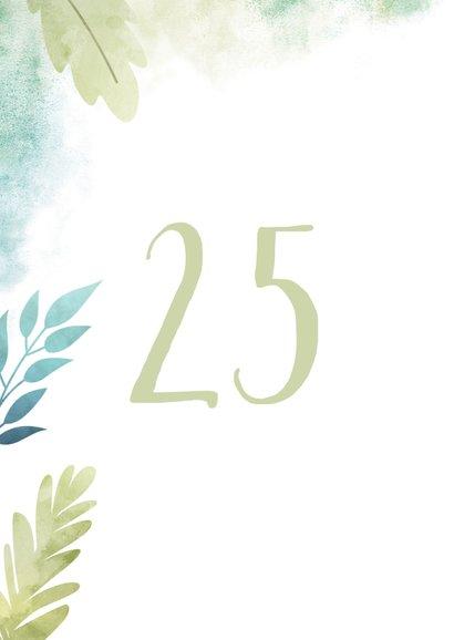 Einladungskarte zum Hochzeitsjubiläum Blätter & Wasserfarbe 2
