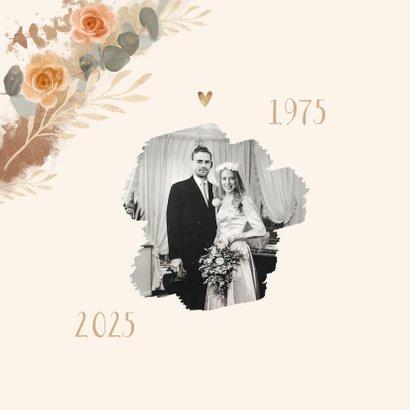 Einladungskarte zum Hochzeitstag Fotos mit Rosen 2