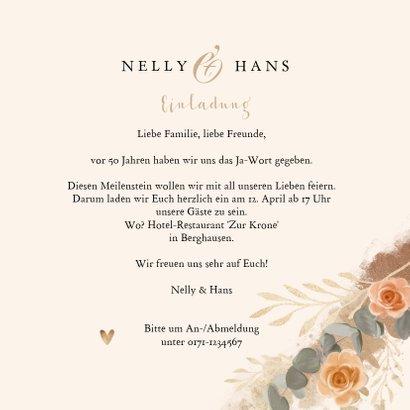 Einladungskarte zum Hochzeitstag Fotos mit Rosen 3