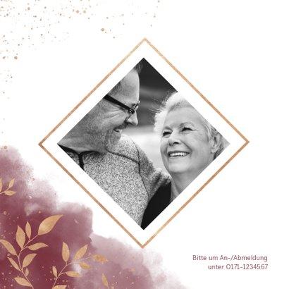 Einladungskarte zum Hochzeitstag goldene Zweige 2