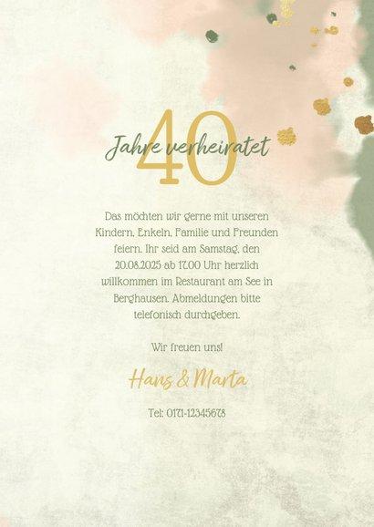 Einladungskarte zum Jubiläum mit eleganten Blumen 3