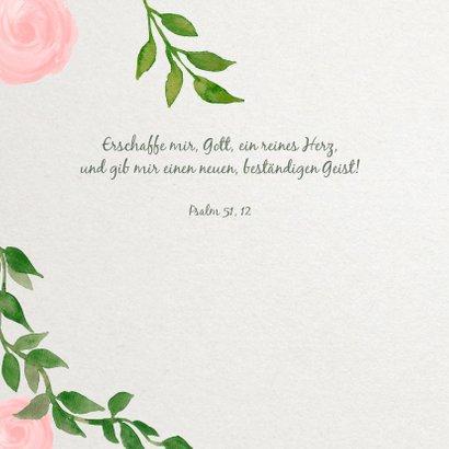 Einladungskarte zur Firmung Rosen und Zweige 2