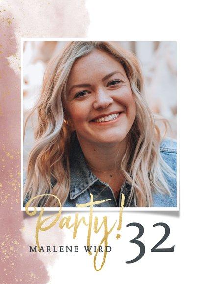 Einladungskarte zur Geburtstagsparty mit Foto 2