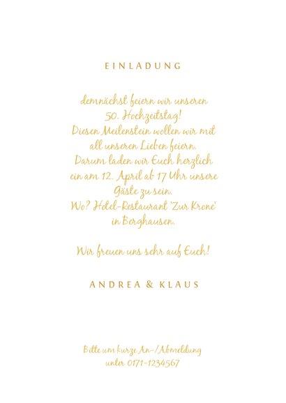 Einladungskarte zur goldenen Hochzeit mit Fotos in 50 3