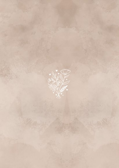 Einladungskarte zur Hochzeit altrosa Aquarell Rückseite