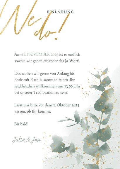 Einladungskarte zur Hochzeit Eukalyptus & Foto 3