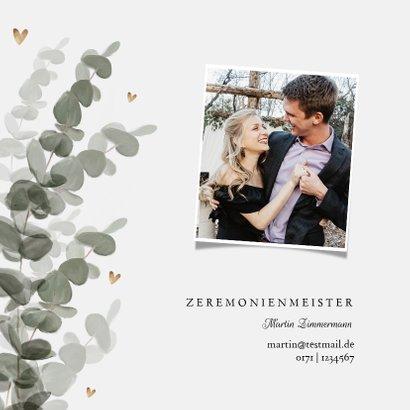 Einladungskarte zur Hochzeit Eukalyptusblätter 2