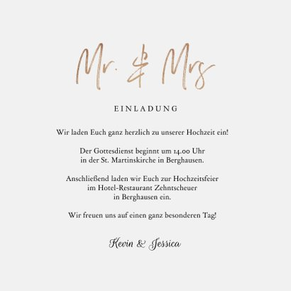 Einladungskarte zur Hochzeit Eukalyptusblätter 3