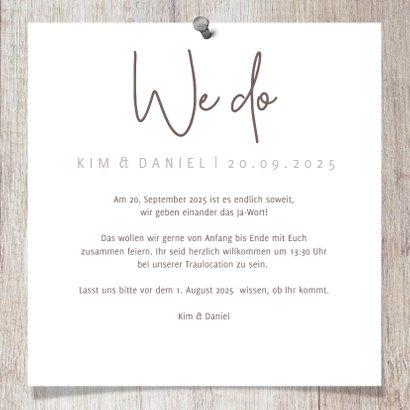 Einladungskarte zur Hochzeit Fotos auf Holz 3