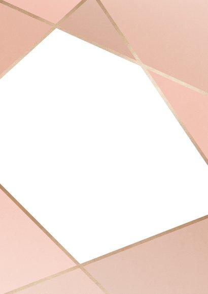 Einladungskarte zur Hochzeit geometrisch Rückseite
