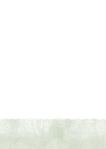 Einladungskarte zur Hochzeit im Aquarelllook mit Punkten Rückseite