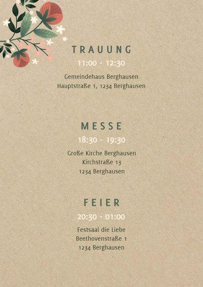 Einladungskarte zur Hochzeit im botanischen Look  2