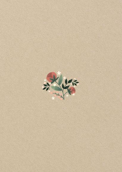 Einladungskarte zur Hochzeit im botanischen Look  Rückseite