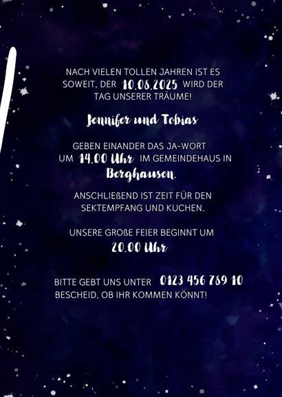 Einladungskarte zur Hochzeit im Galaxy Design 3