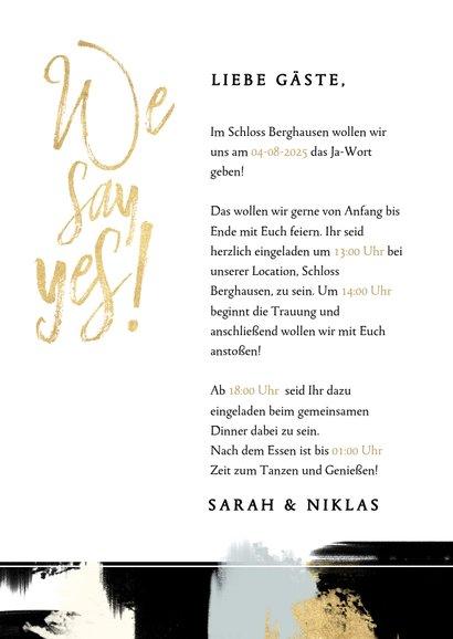 Einladungskarte zur Hochzeit mit Foto und Farbstreifen 3