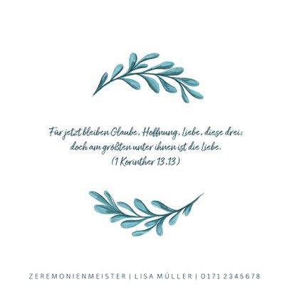 Einladungskarte zur Hochzeit mit gemalten Zweigen 2