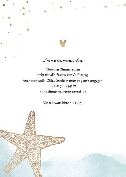 Einladungskarte zur Hochzeit Strandfeeling mit Foto 2