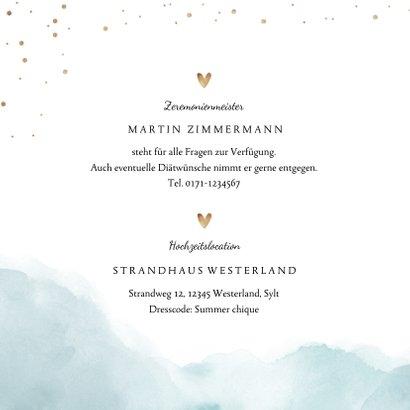 Einladungskarte zur Hochzeit Strandfeeling 2