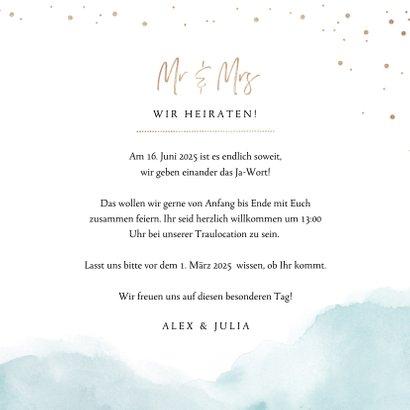 Einladungskarte zur Hochzeit Strandfeeling 3