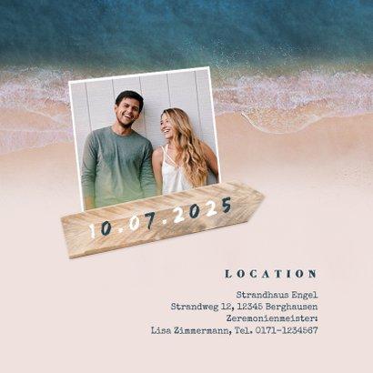 Einladungskarte zur Hochzeit Strandsommer 2