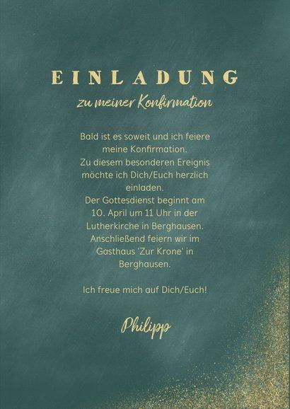 Einladungskarte zur Konfirmation Foto und Goldfische 3